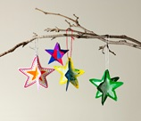3-D Paper Shape Ornaments craft
